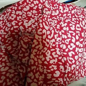 Euc A&D pink leopard leggings